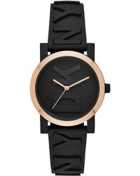 DKNY - Soho Black Silicone Strap Watch 34mm, Created For Macy's - Lyst