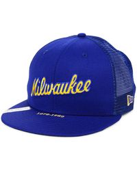 best sneakers f4f0c 54ea7 KTZ Milwaukee Brewers Mlb 9fifty July 4th Snapback Cap in Blue for Men -  Lyst