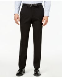 Kenneth Cole Reaction   Men's Slim-fit Stretch Gabardine Dress Pants   Lyst