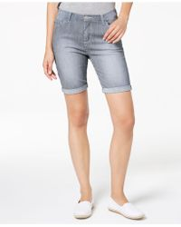 Lee Platinum - Petite Railroad-stripe Denim Shorts - Lyst