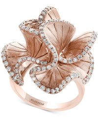 Effy Collection Diamond Flower Ring (9/10 Ct. T.w.) In 14k Rose Gold