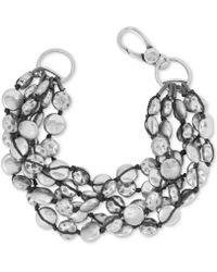 Lucky Brand - Bracelet, Silver-tone Coin Bracelet - Lyst