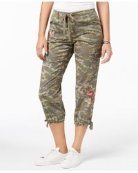 Style & Co. - Embroidered Capri Trousers - Lyst