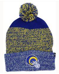 47 Brand - Static Cuff Pom Knit Hat - Lyst