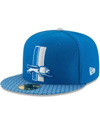 ee5b84e0ac9 Lyst - Ktz Detroit Lions Training Camp Official Bucket Hat in Blue ...