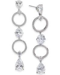 Danori - Silver-tone Crystal Circle Linear Drop Earrings, Created For Macy's - Lyst