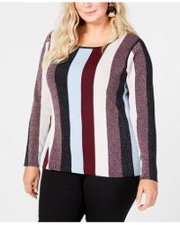 INC International Concepts - I.n.c. Plus Size Striped Jumper, Created For Macy's - Lyst
