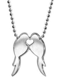 Alex Woo - Lovebirds Pendant Necklace In Sterling Silver - Lyst