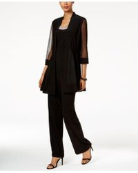 R & M Richards - Embellished Layered-look Pantsuit - Lyst