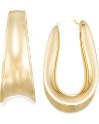 Signature Gold - Wide-set Hoop Earrings In 14k Gold - Lyst
