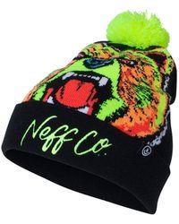 1ccf0aaec9d Neff - Psych Graphic Pom Pom Beanie - Lyst