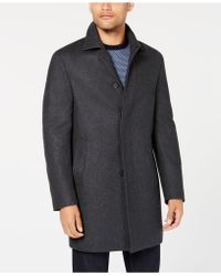 DKNY - Slim-fit Darcy Graphite Overcoat - Lyst