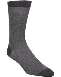 Cole Haan - Piqué Knit Textured Crew Socks - Lyst
