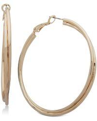 Nine West - Double-row Twist Hoop Earrings - Lyst
