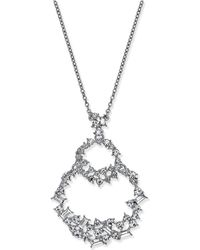 """INC International Concepts - Silver-tone Crystal Double Loop Pendant Necklace, 28"""" + 3"""" Extender, Created For Macy's - Lyst"""