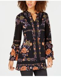 Style & Co. - Floral-print Peasant Tunic Top, Created For Macy's - Lyst
