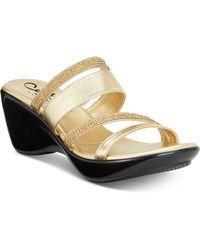 Callisto   Viera Strappy Platform Wedge Sandals, Created For Macy's   Lyst