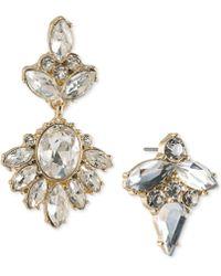 ABS By Allen Schwartz - Gold-tone Crystal Mismatch Earrings - Lyst
