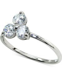 Giani Bernini - Cubic Zirconia Triple Stone Ring In Sterling Silver, Created For Macy's - Lyst