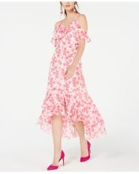 INC International Concepts - I.n.c. Ruffled Cold-shoulder Midi Dress, Created For Macy's - Lyst