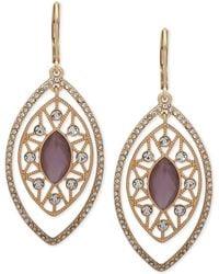 Lonna & Lilly - Gold-tone Crystal & Stone Orbital Drop Earrings - Lyst