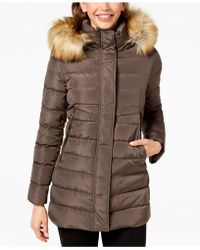 INC International Concepts - I.n.c. Faux-fur-trim Hooded Puffer Coat, Created For Macy's - Lyst