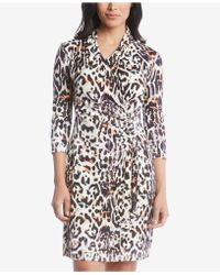 Karen Kane - Cascade Printed Wrap Dress - Lyst