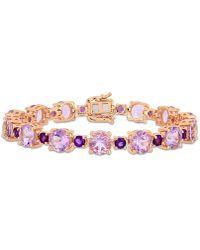 Macy's - Amethyst (24-5/8 Ct. T.w.) Tennis Bracelet In 18k Rose Gold Over Sterling Silver - Lyst