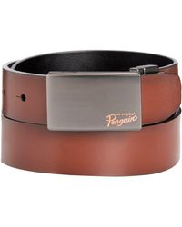 Original Penguin - Plaque-buckle Nappa Leather Belt - Lyst
