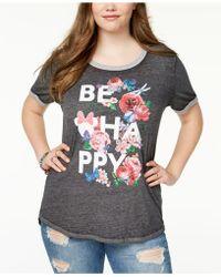 Disney - Plus Size Cotton Be Happy Graphic-print T-shirt - Lyst