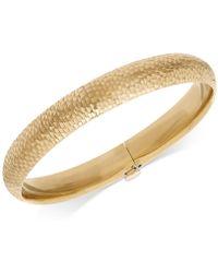 Macy's - Mermaid Textured Bangle Bracelet In 14k Gold - Lyst