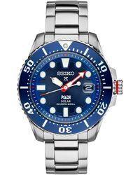 Seiko - Men's Prospex Solar Diver Padi-edition Stainless Steel Bracelet Watch 44mm Sne435 - Lyst