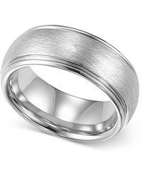 Macy's - Mens Tungsten Ring, 8mm White Tungsten Comfort Fit Wedding Band - Lyst