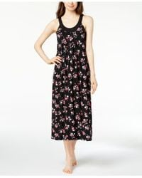 Alfani - Bouquet-print Pleated Nightgown, Created For Macy's - Lyst