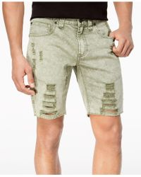 INC International Concepts - Olive Shredded Shorts, Created For Macy's - Lyst