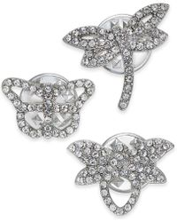 INC International Concepts - I.n.c. Silver-tone 3-pc. Set Crystal Critter Pins, Created For Macy's - Lyst