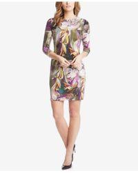 Karen Kane - Printed Sheath Dress - Lyst