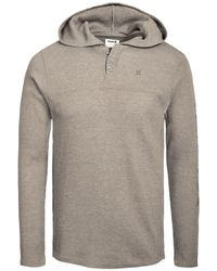 Hurley - Astoria Thermal-knit Logo Graphic Hooded Henley, Created For Macy's - Lyst