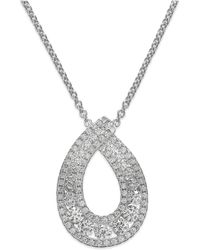 Arabella | Swarovski Zirconia Pendant Necklace In Sterling Silver (1-1/4 Ct. T.w.) | Lyst