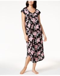 Charter Club - Crinkle Bouquet-print Nightgown, Created For Macy's - Lyst