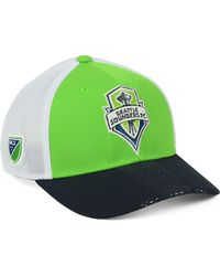 buy popular b92ad 7a652 adidas - Seattle Sounders Fc Authentic Mesh Adjustable Cap - Lyst