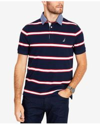 Nautica - Striped Classic Fit Polo Shirt - Lyst