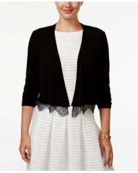 Tommy Hilfiger | Lace-trim Cropped Cardigan | Lyst
