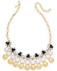 "INC International Concepts - I.n.c. Gold-tone Multi-stone & Circle Statement Necklace, 18"" + 3"" Extender, Created For Macy's - Lyst"