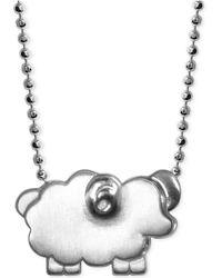 Alex Woo - Little Sheep Zodiac Pendant Necklace In Sterling Silver - Lyst
