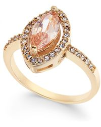 Charter Club - Gold-tone Pavé & Pink Stone Ring - Lyst