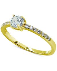 Giani Bernini - Cubic Zirconia Solitaire Ring In Sterling Silver, Created For Macy's - Lyst
