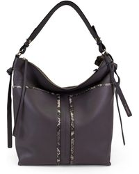 T Tahari - Skyler Leather Bucket Bag - Lyst