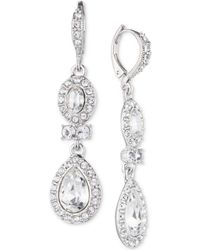 Givenchy | Faceted Stone And Crystal Double Drop Earrings | Lyst