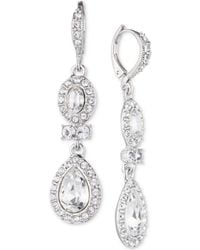 Givenchy - Faceted Stone And Crystal Double Drop Earrings - Lyst